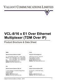 8/16 E1 over Ethernet Multiplexer (TDM over IP) - Valiant ...