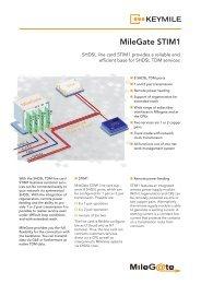 Data Sheet MileGate STIM1 - KEYMILE