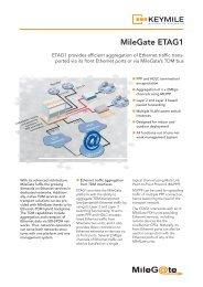 Data Sheet MileGate ETAG1 - KEYMILE