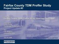 Fairfax County TDM Proffer Study - Fairfax County Government