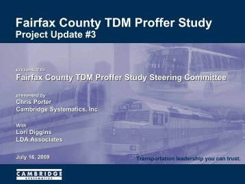 Fairfax County TDM Proffer Study - Fairfax County Government