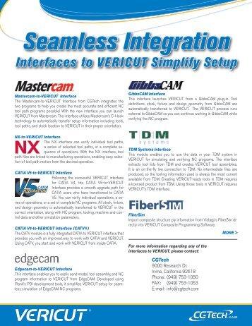 Seamless Integration Interfaces to VERICUT Simplify Setup - CGTech