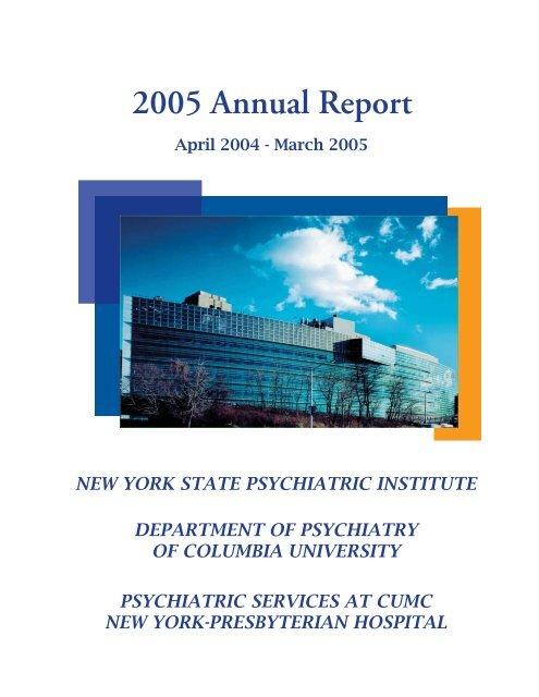 Ar Final Indd New York State Psychiatric Institute