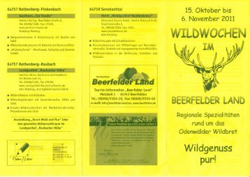 WILDWOCHEN - Odenwald