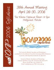38th Annual Meeting April 26-30, 2006 - Society for Obstetric ...
