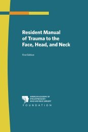 Resident Manual of Trauma to the Face, Head, and Neck - American ...