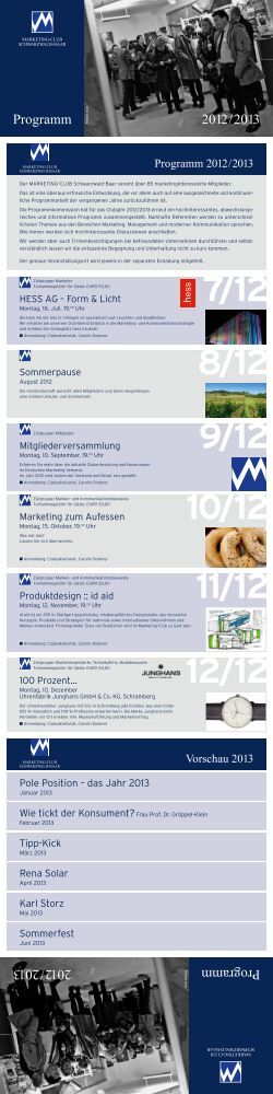 7/12 - MARKETING-CLUB SCHWARZWALD-BAAR