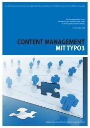 content management mit typo3 - Webportfolio Manfred Schappe