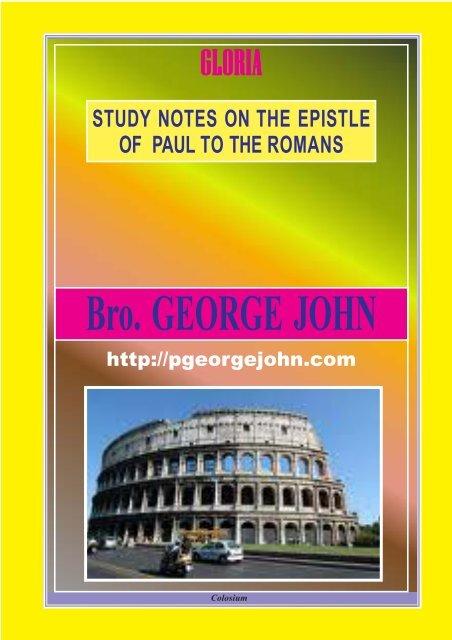 romans - Malayalam Bible Study Notes/PGeogeJohn