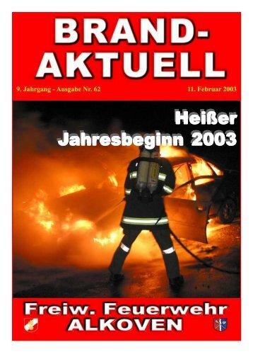 9. Jahrgang - Ausgabe Nr. 62 11. Februar 2003 - Freiwillige ...
