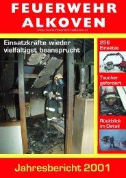LEISTUNGSAUFWAND 2001 - Freiwillige Feuerwehr Alkoven