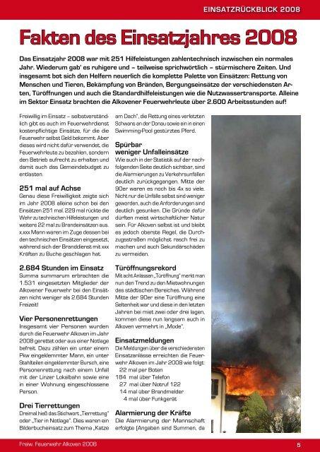 Aus- und weiterbildung 2008 - Freiwillige Feuerwehr Alkoven