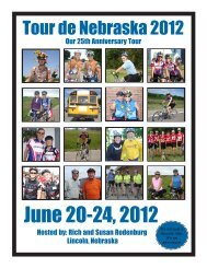 June 20-24, 2012 - Tour de Nebraska