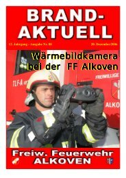 12. Jahrgang - Ausgabe Nr. 80 20 ... - Freiwillige Feuerwehr Alkoven