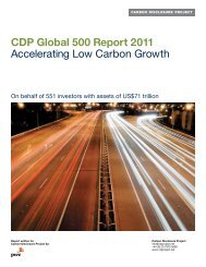 CDP Global 500 Report 2011 Accelerating Low Carbon Growth
