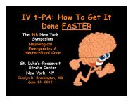 IV t-PA: How To Get It IV t PA: How To Get It Done FASTER
