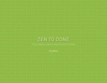 ZEN TO DONE - The Zen Tweeter
