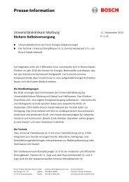 Presse-Information - Bosch Industriekessel GmbH