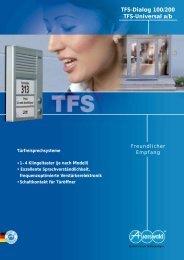 TFS-Dialog 100/200 TFS-Universal a/b