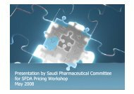 Presentation by Saudi Pharmaceutical Committee for SFDA Pricing ...