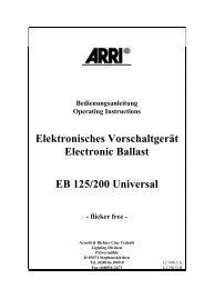 Elektronisches Vorschaltgerät Electronic Ballast EB 125/200 Universal