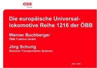 Die europäische Universal- lokomotive Reihe 1216 der ÖBB