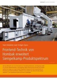 Frontend-Technik von Hombak erweitert Siempelkamp ...