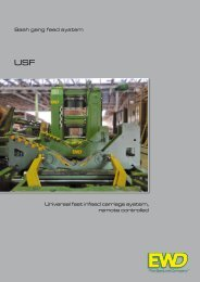 Universal fast infeed carriage system, remote controlled Sash ... - EWD