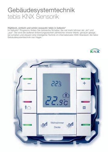 Gebäudesystemtechnik tebis KNX Sensorik - Hager