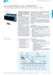 Universal-Relais Typ TR800Web - ZIEHL industrie-elektronik GmbH ...