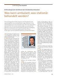 Was kann ambulant, was stationär behandelt werden? / Ambulante