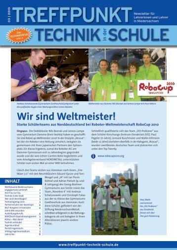 Wir sind Weltmeister! - Treffpunkt Technik in der Schule