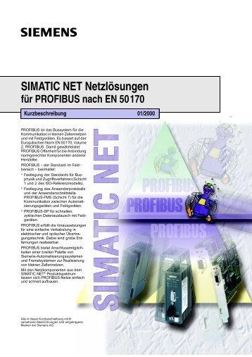 SIMATIC NET Netzlösungen für PROFIBUS nach EN 50170 - Cern