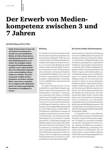 Der Erwerb von Medien- kompetenz zwischen 3 und 7 Jahren - FSF