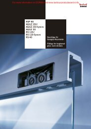 Glass Fittings: Room Dividers - RS/RSP/AGILE - BD Online Product ...