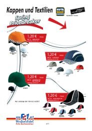 Kappen und Textilien - Fg1.at Werbeartikel