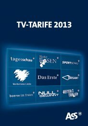 Download Tarifbroschüre 2013 - ARD-Werbung Sales Services GmbH