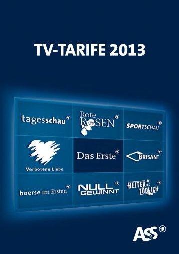 Download Tarifbroschüre 2013 - ARD-Werbung Sales Services GmbH
