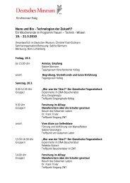 Veranstaltungsprogramm - Deutsches Museum