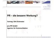 PR – die bessere Werbung?