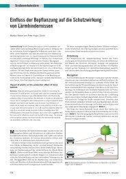 Einfluss der Bepflanzung auf die Schutzwirkung ... - Basler & Hofmann