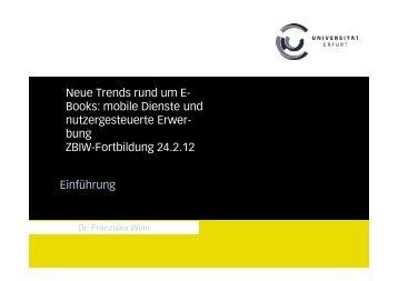 Neue Trends - Deutscher Bibliotheksverband e.V.