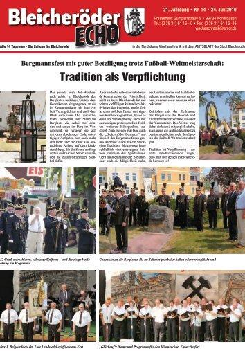 Tradition als Verpflichtung - Nordhäuser Wochenchronik