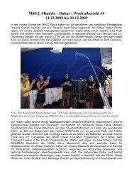 M80/2, Mindelo – Dakar ; Wochenbericht #4 14.12.2009 bis 20.12 ...