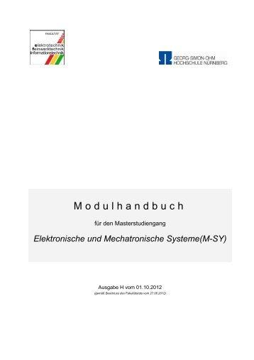 Elektronische und Mechatronische Systeme(M-SY)