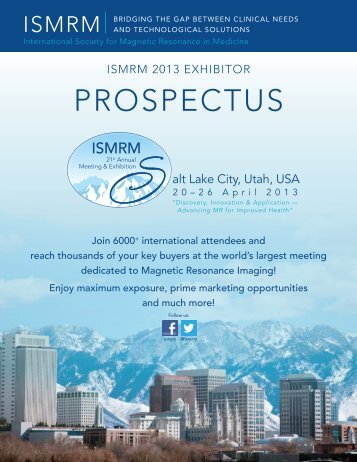 Please click here to download the entire prospectus - ismrm
