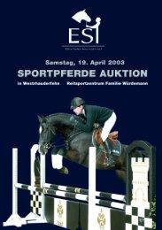 2003 - ESI I. Sportpferde Katalog (.pdf, 3,6