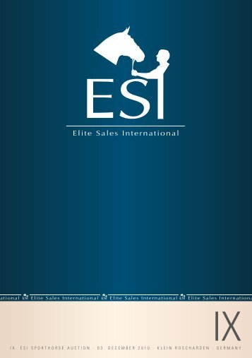 2010 - ESI IX. Sportpferde Katalog (.pdf, 1,8