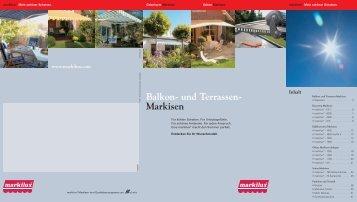 Balkon und Terrassenmarkisen - Eustergerling