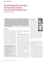 Das ABC-Modell für die Therapie des chronischen Stotterns nach ...